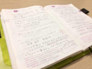 二日間で計 6 ページものメモをとりました