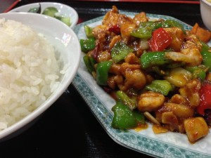 辛味鶏炒め定食